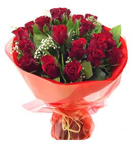 Gaziantep çiçek satışı  11 adet kimizi gülün ihtisami buket modeli