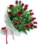 Gaziantep güvenli kaliteli hızlı çiçek  11 adet kirmizi gül buketi sade ve hos sevenler