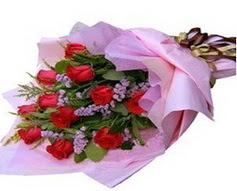 11 adet kirmizi güllerden görsel buket  Gaziantep cicek , cicekci
