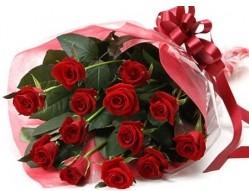Gaziantep çiçek satışı  10 adet kipkirmizi güllerden buket tanzimi