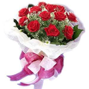 Gaziantep anneler günü çiçek yolla  11 adet kırmızı güllerden buket modeli