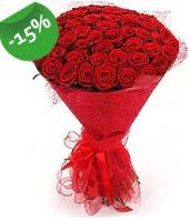 51 adet kırmızı gül buketi özel hissedenlere  Gaziantep kaliteli taze ve ucuz çiçekler