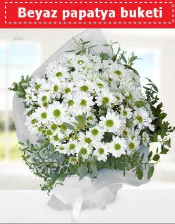 Beyaz Papatya Buketi  Gaziantep çiçekçi telefonları