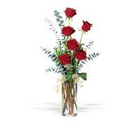 Gaziantep çiçek servisi , çiçekçi adresleri  cam yada mika vazoda 6 adet kirmizigül