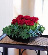 Gaziantep kaliteli taze ve ucuz çiçekler  10 adet kare mika yada cam vazoda gül tanzim