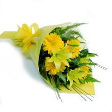 Gaziantep çiçek , çiçekçi , çiçekçilik  lilyum gerbera buketi özel