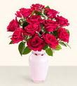 Gaziantep çiçek servisi , çiçekçi adresleri  10 kirmizi gül cam yada mika vazo tanzim