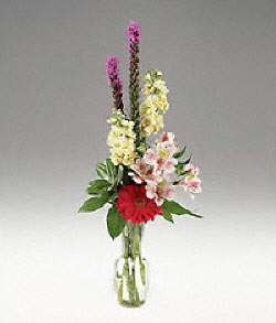 Gaziantep çiçek yolla , çiçek gönder , çiçekçi   cam yada mika vazoda mevsim çiçekleri
