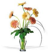 Gaziantep internetten çiçek siparişi  cam yada mika vazoda 7 adet gerbera
