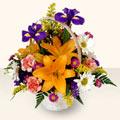 Gaziantep çiçekçi telefonları  sepet içinde karisik çiçekler