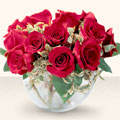 Gaziantep ucuz çiçek gönder  mika yada cam içerisinde 10 gül - sevenler için ideal seçim -