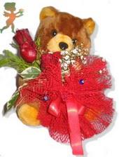 oyuncak ayi ve gül tanzim  Gaziantep yurtiçi ve yurtdışı çiçek siparişi