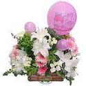 balon ve çiçeklerle tanzim  Gaziantep güvenli kaliteli hızlı çiçek