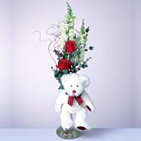 2 adet gül ve panda özel  Gaziantep çiçek mağazası , çiçekçi adresleri