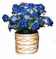 yapay mavi çiçek sepeti  Gaziantep çiçek yolla