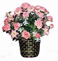 yapay karisik çiçek sepeti  Gaziantep ucuz çiçek gönder