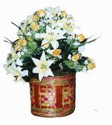 yapay karisik çiçek sepeti   Gaziantep çiçek yolla