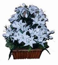 yapay karisik çiçek sepeti   Gaziantep İnternetten çiçek siparişi