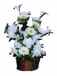yapay karisik çiçek sepeti  Gaziantep çiçek yolla , çiçek gönder , çiçekçi
