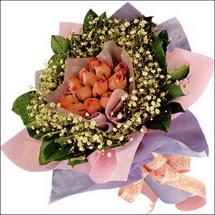 11  adet  gül ve   elyaflar   Gaziantep çiçek mağazası , çiçekçi adresleri