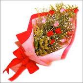 12 adet renkli  gül buketi   Gaziantep çiçek mağazası , çiçekçi adresleri