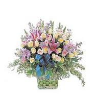 sepette kazablanka ve güller   Gaziantep uluslararası çiçek gönderme