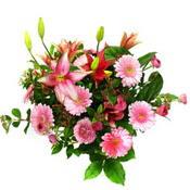 lilyum ve gerbera çiçekleri - çiçek seçimi -  Gaziantep uluslararası çiçek gönderme