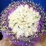 71 adet beyaz gül buketi   Gaziantep hediye sevgilime hediye çiçek