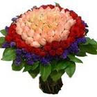 71 adet renkli gül buketi   Gaziantep çiçek online çiçek siparişi