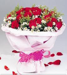 Gaziantep güvenli kaliteli hızlı çiçek  12 ADET KIRMIZI GÜL BUKETI