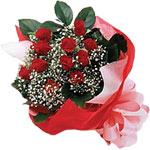 Gaziantep güvenli kaliteli hızlı çiçek  KIRMIZI AMBALAJ BUKETINDE 12 ADET GÜL