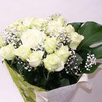 Gaziantep çiçek servisi , çiçekçi adresleri  11 adet sade beyaz gül buketi