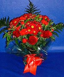 Gaziantep çiçek servisi , çiçekçi adresleri  3 adet kirmizi gül ve kir çiçekleri buketi