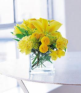 Gaziantep çiçek online çiçek siparişi  sarinin sihri cam içinde görsel sade çiçekler