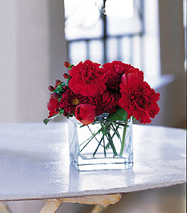 Gaziantep çiçek online çiçek siparişi  kirmizinin sihri cam içinde görsel sade çiçekler