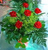 6 adet kirmizi gül buketi   Gaziantep İnternetten çiçek siparişi