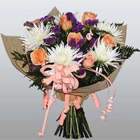 güller ve kir çiçekleri demeti   Gaziantep yurtiçi ve yurtdışı çiçek siparişi