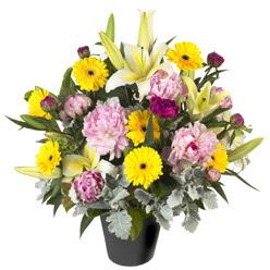 karisik mevsim çiçeklerinden vazo tanzimi  Gaziantep çiçek gönderme