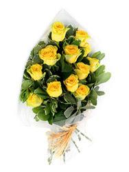 Gaziantep internetten çiçek satışı  12 li sari gül buketi.