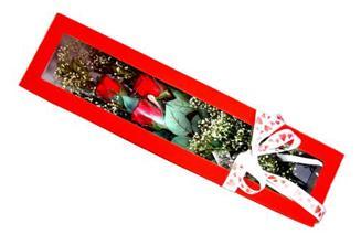 Gaziantep çiçek servisi , çiçekçi adresleri  Kutuda 3 adet gül
