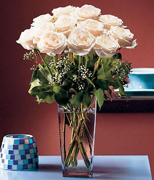 Gaziantep çiçek , çiçekçi , çiçekçilik  Cam yada mika vazo içerisinde 12 gül