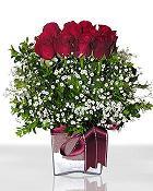 Gaziantep hediye sevgilime hediye çiçek  11 adet gül mika yada cam - anneler günü seçimi -