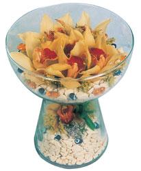 Gaziantep kaliteli taze ve ucuz çiçekler  Cam içerisinde 4 adet kandil orkide