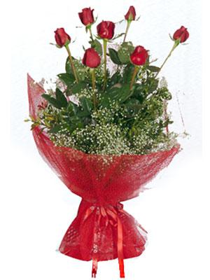 Gaziantep hediye çiçek yolla  7 adet gülden buket görsel sik sadelik