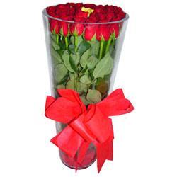 Gaziantep ucuz çiçek gönder  12 adet kirmizi gül cam yada mika vazo tanzim