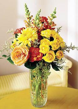 Gaziantep çiçekçi telefonları  mika yada cam içerisinde karisik mevsim çiçekleri