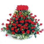 Gaziantep çiçek siparişi sitesi  41 adet kirmizi gülden sepet tanzimi