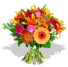 Gaziantep 14 şubat sevgililer günü çiçek  Karisik kir çiçeklerinden görsel demet
