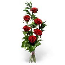 Gaziantep çiçek gönderme  mika yada cam vazoda 6 adet essiz gül