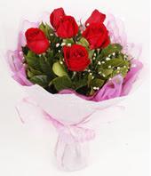 9 adet kaliteli görsel kirmizi gül  Gaziantep uluslararası çiçek gönderme